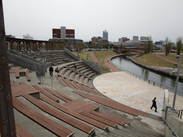 環水公園内の野外劇場から見た景色1