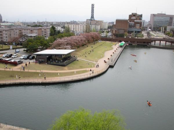 天門橋から見た環水公園の景色4