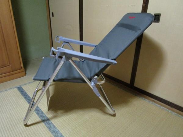 アウトドア折りたたみ椅子のリクライニング