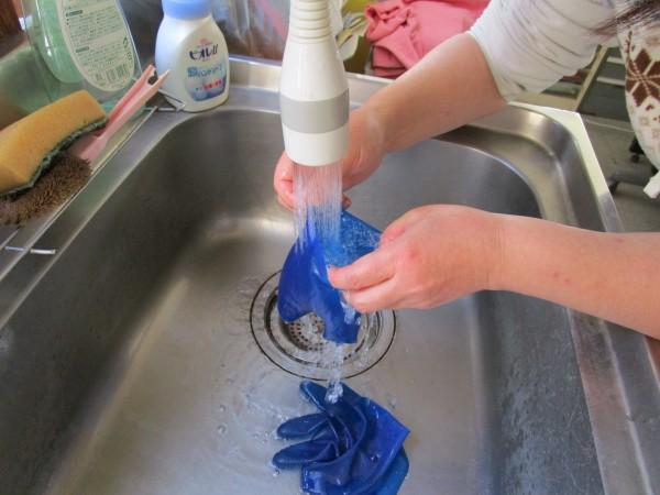 ゴム手袋の洗い方2