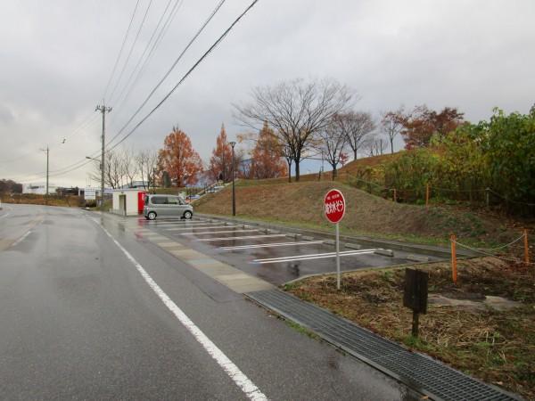 「新幹線の見える丘公園」の駐車場