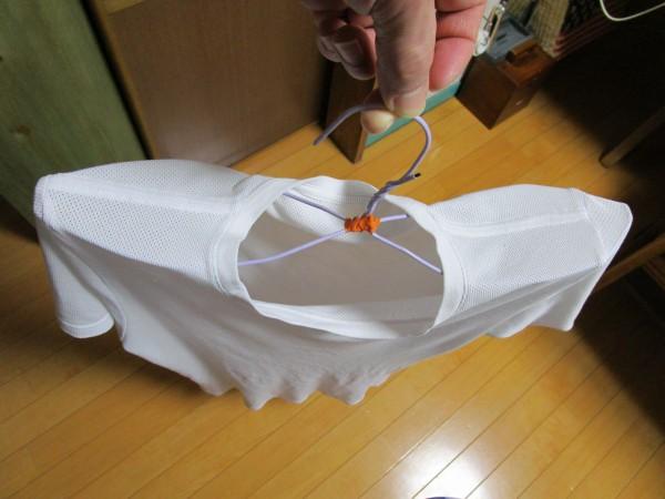 針かねハンガーを活用した「靴下ハンガー」の使用例2