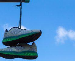 靴を干している画像