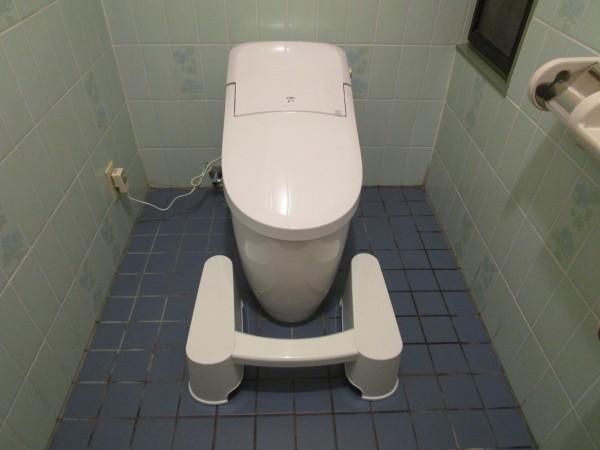 トイレスムーズをトイレに設置したところ